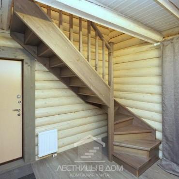 Деревянная лестница из сосны для дачи, г. Павловский Посад