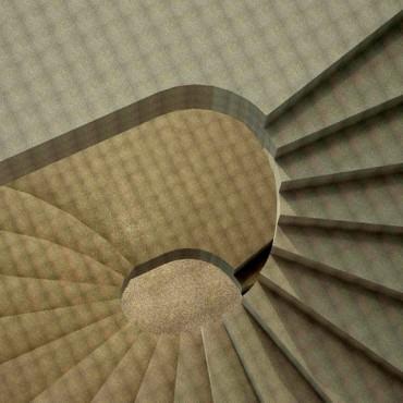 Лестница бетонная винтовая